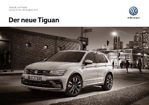 VW Tiguan 2016 Preisliste