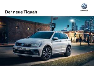 VW Tiguan 2016 Prospekt Technische Daten
