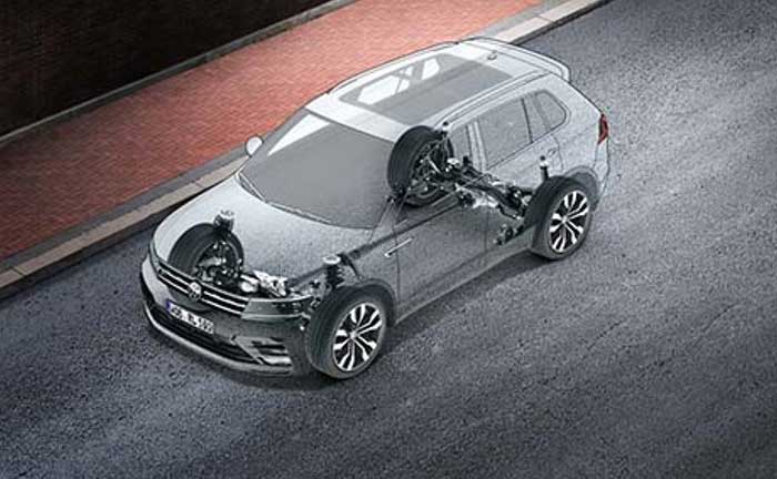 VW Tiguan 2016 Fahrwerk